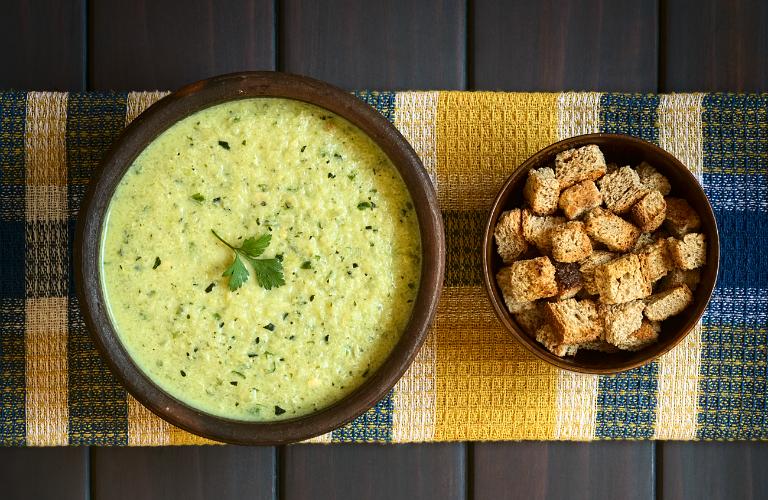 Receta - crema de brócoli y coliflor